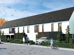 Op een zuidwest gericht perceel van 237 m² (lot 06) in de Hoveniersstraat in Jabbeke bouwt Danneels dezehalfopen bebouwing in moderne architectuu