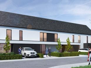 Op een zuidwest gericht perceel van 234 m² (lot 07) in de Hoveniersstraat in Jabbeke bouwt Danneels dezehalfopen bebouwing in moderne architectuu