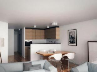 Zeer recent appartement met twee slaapkamers en terras voor-en achteraan, centraal gelegen op de P. Parmentierlaan. INDELING : Woonkamer met terrasje