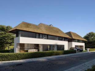 Nieuwbouw: Stijlvolle koppelvilla afgewerkt met hoogwaardige materialen, rustig gelegen op enkele passen  van de Royal Zoute Golf Club. Indeling: Ruim