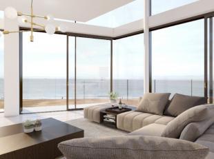 Uitzonderlijke hoek-Mezzanine (260 m²) op de 7e verdiep met prachtig panoramisch zeezicht en ruim 18m gevelbreedte. Dit Appartement geniet van ee