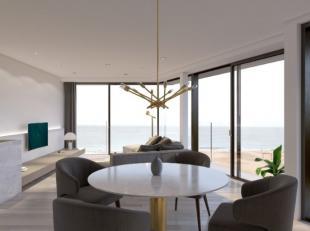 Subliem hoekappartement (139 m²) op 5e verdiep met uitzonderlijk panoramisch zeezicht en 15 m gevelbreedte. Dit Appartement beschikt over 3 slaap