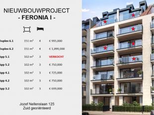 """Prachtig nieuw project """"Feronia I"""" aan het Albertstrand op enkele passen van het strand. Het project geniet van een 6.5 meter gevelbreedte; mooie terr"""