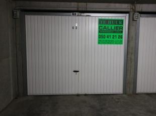 Garagebox in het centrum van Blankenberge, in de residentie Juana.