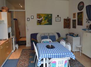 Gemoedelijk 1-slaapkamerappartement gelegen op een 1ste verdieping, opgebouwd uit inkomhal met vestiaire/bergruimte, leefruimte voorzien van grote raa