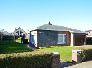 Gistel, rustig en mooi gelegen bungalow met zeer zonnige zuidwest gerichte tuin op een perceel van 619m².Vlotte verbinding naar centrum van Giste