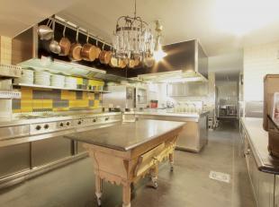 Uitstekend commercieel gelegen, goed draaiend en gekend restaurant met woonst (140 m2) op riant perceel grond met garages & bergingen (180 m2) en