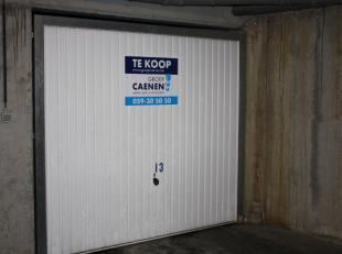 Gesloten garage box met elektriciteit gelegen op de -2 verdieping van de Concerto.