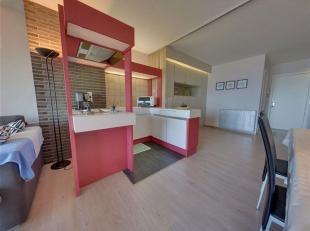 Ruime studio op de tweede verdieping met frontaal zeezicht.<br /> Studio bestaande uit een woonkamer, open ingerichte keuken,  slaaphoek en badkamer m