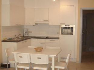 Recent appartement met zonneterras vlakbij de zeedijk op centrale ligging. Indeling :   living met open ingerichte keuken, zonnig terras , hall, afzon
