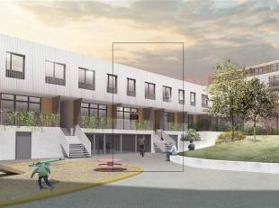 Nieuwbouwhuis in het Emaillerie project van 126 m² met tuin. Gelijkvloers een volledig uitgeruste en open keuken met eetkamer die direct aansluit