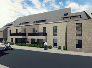 In het centrum van Torhout Nieuwbouw 2e verdieping studio : Living, keuken berging en appart WC. badkamer en 1 slaapkamer en een voor terras. Parkeerp