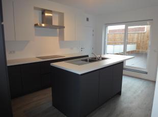 Laatste appartement uit kleinschalig gebouw van 119m² bewoonbare oppervlakte met bijkomend een terras van 35 m². Indeling:ruime inkomhal met