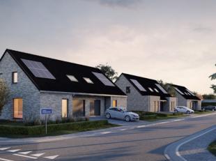 6 halfopen nieuwbouwwoningen op mooie percelen. 3-slaapkamerwoningen met garage en mogelijkheid carport inclusief 6 zonnepanelen. Loten tussen 388 &am