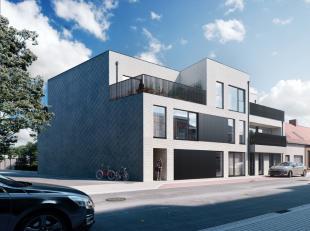 TOP LIGGING! Modern nieuwbouw gelijkvloersappartement met 2 slaapkamers, groot terras en tuintje (88m²). Volledige afwerking. E-34. Garagebox mog