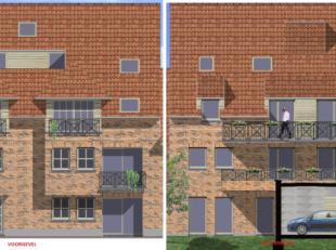 Kleinschalig projectgrond bestaande uit 6 appartementen en 15 carports (waarvan er 5 moeten verkocht worden aan de nabijgelegen woningen) gelegen aan