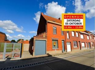 OPTIE !!! OPENHUIS ZATERDAG 05 OKTOBER TSS 13.30U - 15.00U - VRIJ TE BEZOEKEN ZONDER VOORAFGAANDE AFSPRAAK - Woning met garage op centrale ligging te