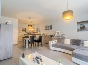 Centraal doch rustig gelegen gelijkvloers appartement van 100m² bestaande uit inkom met apart toilet, ruime gezellige living, open ingeric