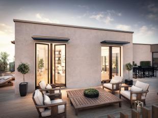 Composition<br /> Penthouse 4.1 - 3 chambres / 2 salles de bains - 159 m² - Terrasse 94,5 m² Sud/Ouest<br /> - Hall d'entrée (a