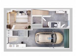 Nouvelle construction: 2 maisons bel-étages avec une vue panoramique sur les polders;Composition: entrée, chambre à coucher ou bu