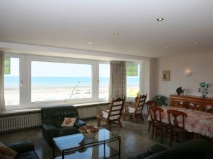 APPARTEMENT TE KOOP TE DE PANNE : Ruim en heel goed onderhouden appartement op de Zeedijk. Grote woonkamer (6 m breed) met panoramisch zeezicht, afzon