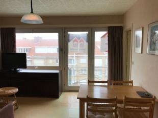 appartement 1 slaapkamer vlakbij de zee, winkelstraatIndeling: Inkomhal, leefruimte met half open keuken, badkamer met toilet - douche en lavabo, ruim