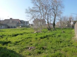 Koksijde-Bad : terrain à bâtir au bord du centre !Composition: le terrain : 572 m².Atous: Terrain pour villa jumelée !Orient&