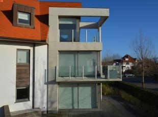 Prachtig gemeubeld designappartement met garage in het gebouw. Uniek terras, twee slaapkamers waarvan één met mezzanine. Luxueuze badkam
