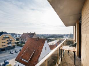 Zonnig appartement met prachtig zicht op de duinen.Het appartement bestaat uit een ruime inkomhal, 2 bergingen, leefruimte met uitgeruste keuken en ru