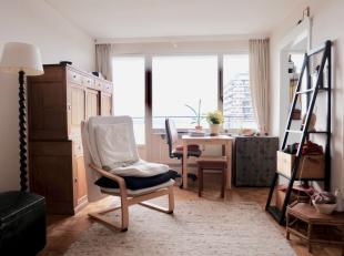 Nabij het park de Groene Vallei treffen we deze studio op de12de verdieping met prachtig uitzicht over de stad Gent !De studio bestaat uit een inkom m