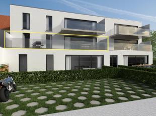 Residentie TER STEDE bestaat uit 2 gebouwen met samen 16 appartementen met elk 2 slaapkamers en zuidwestgerichte terrassen.  Er kan een parkeerplaats
