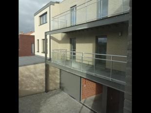 Mooie nieuwbouwappartementen op topligging te Wervik,bestaande uit inkomhal, apart toilet, woonkamer met open keuken, berging, 1 slaapkamer, badkamer,