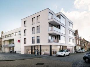 Op het plein gelegen handelsgelijkvloers en appartementen in het centrum van Wervik De residentie bestaat op het gelijkvloers uit 2 commerciële r