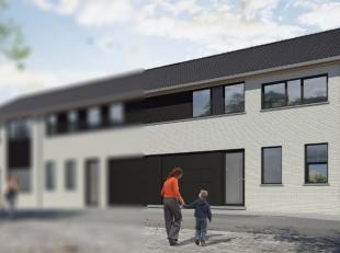 Nieuwbouw woning met drie slaapkamers, garage en tuintje met uitgang achteraan, terrassen zijn volledig afgewerkt tuinen omheind.<br />