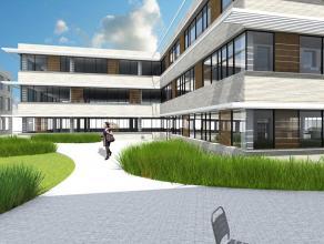 In het nieuwbouw-kantorencomplex bieden wij op heden 1 kantoorkavel aan van 1054 m². U kan tevens opteren om naast het gelijkvloers, te kiezen vo