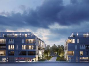 Lichtrijke nieuwbouwappartement op de 1e verdieping in het project Dockside Gardens in Gent. Het appartement heeft een bewoonbare oppervlakte van 66 m