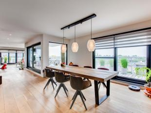 Kwalitatieve en duurzaam afgewerkte penthouse  te residentie Balerina. Bewoonbare oppervlakte van 190 m². Deze voelt nog ruimer door  130 m²