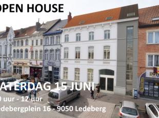 OPENDEUR ZATERDAG 15 JUNI VAN 10U TOT 12U  #  LAATSTE APPARTEMENT!! - Prachtig duplex-appartement met mooi terras op de markt van Ledeberg. Hedendaags