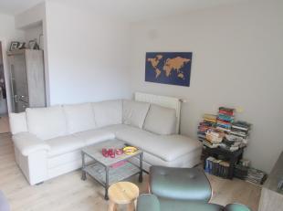 Centrum Landegem: instapklaar appartement op de 1e verdieping (geen lift) met terras! Dit appartement omvat een inkomhall met toilet, leefruimte met o