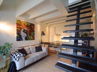 Mooi duplex-appartement (NIET bemeubeld), gelegen nabij het St-Pietersstation en met een zeer vlotte verbinding naar centrum Gent, winkels, enz. De du