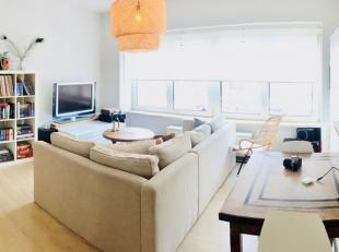 Gezellig, lichtrijk en knus appartement op de 2e verdieping van een kleinschalig gebouw (3 appt) en bestaande uit een hall, living, ingerichte keuken