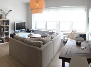 Gezellig, lichtrijk en knus appartement op de 3e verdieping van een kleinschalig gebouw (3 appt) en bestaande uit een hall, living, ingerichte keuken
