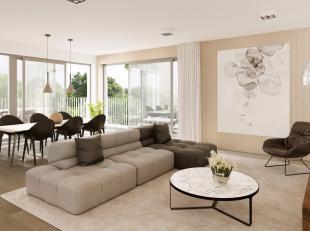 """Nieuwbouw appartement te koop in residentie """"WaterMolen West"""". Dit appartement op de eerste verdieping bestaat uit een inkomhal met apart toilet, een"""