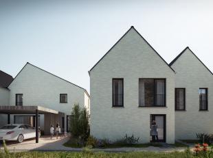 Koop deze leuke nieuwbouwwoning en kom thuis in een rustige buurt in Herzele. De woning bestaat uit een inkomhal waarlangs je naar de leefruimte, een