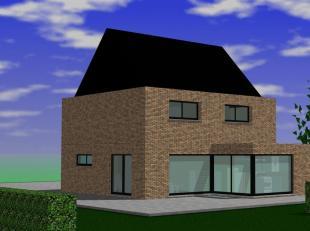 In Geraardsbergen te Solleveld lot 1 wordt deze moderne woning gebouwd.<br /> De moderne look van de woning komt tot uiting door de grote ramen in de
