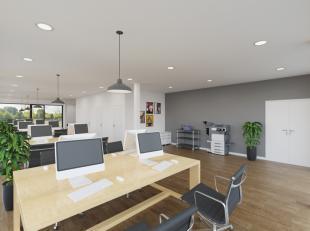 Zeer commercieel gelegen kantoor- of praktijkruimte in een nieuw op te richten residentie. Gelegen op een 200 m van het rond punt aan het zwembad van