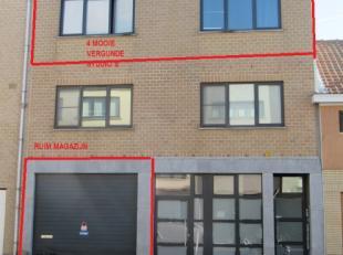 4 VERGUNDE DEFTIGE LEUKE LICHTE RUIME STUDIO S ( zie foto s ) + MAGAZIJN<br /> - BOUWJAAR 2000<br /> - STUDIO S ELK ONGEVEER 30 M² BADKAMER MET D