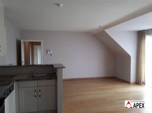 Gelijkvloers appartement met volgende indeling: inkomhal, woonkamer afgewerkt met massieve eiken parket, open keuken - ingericht met toestellen, badka