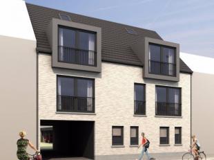 nog te realiseren nieuwbouw 1 slaapkamer duplex appartement met een terras achteraan indeling