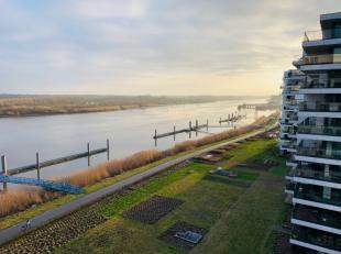 Aan de Zaat te Temse dit prachtig zeer exclusief instapklaar appartement (105m²) op 7e verdiep met formidabel zicht op de Schelde! Volledig gesch